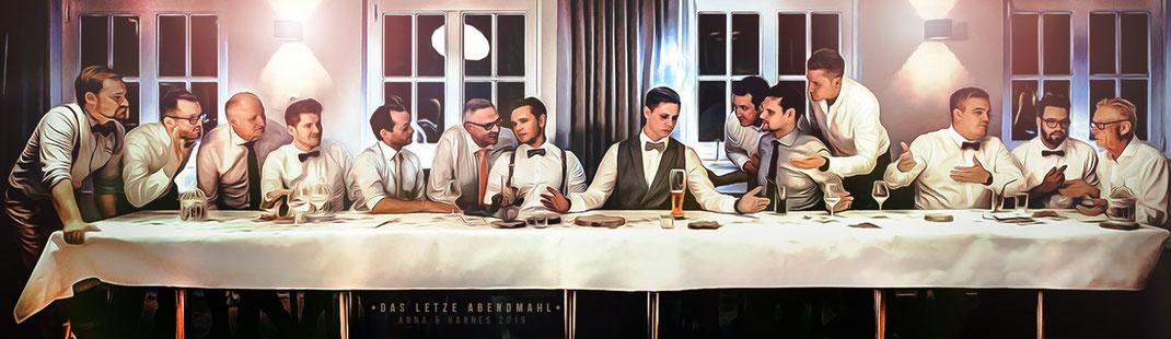 Das Letzte Abendmahl - Kreative Hochzeitsfotografie von Simon Knösel