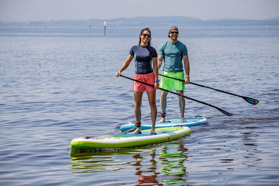Stand up Paddle Boards im Verleih bei Baumhauer Verleih und Abenteuer Meckenbeuren