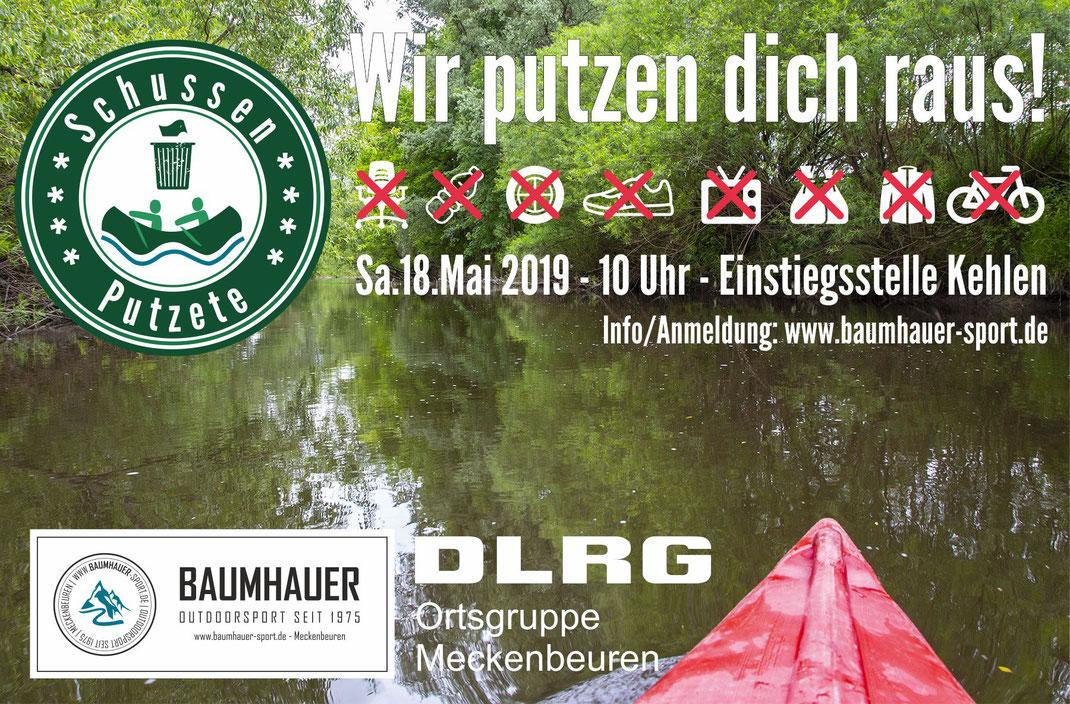 Schussenputzete mit Baumhauer Abenteuer & Verleih und der DLRG Ortsgruppe Meckenbeuren