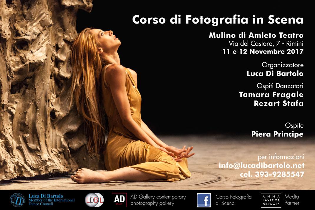 Corso di Fotografia di scena a cura di Luca Di Bartolo in collaborazione con AD Gallery
