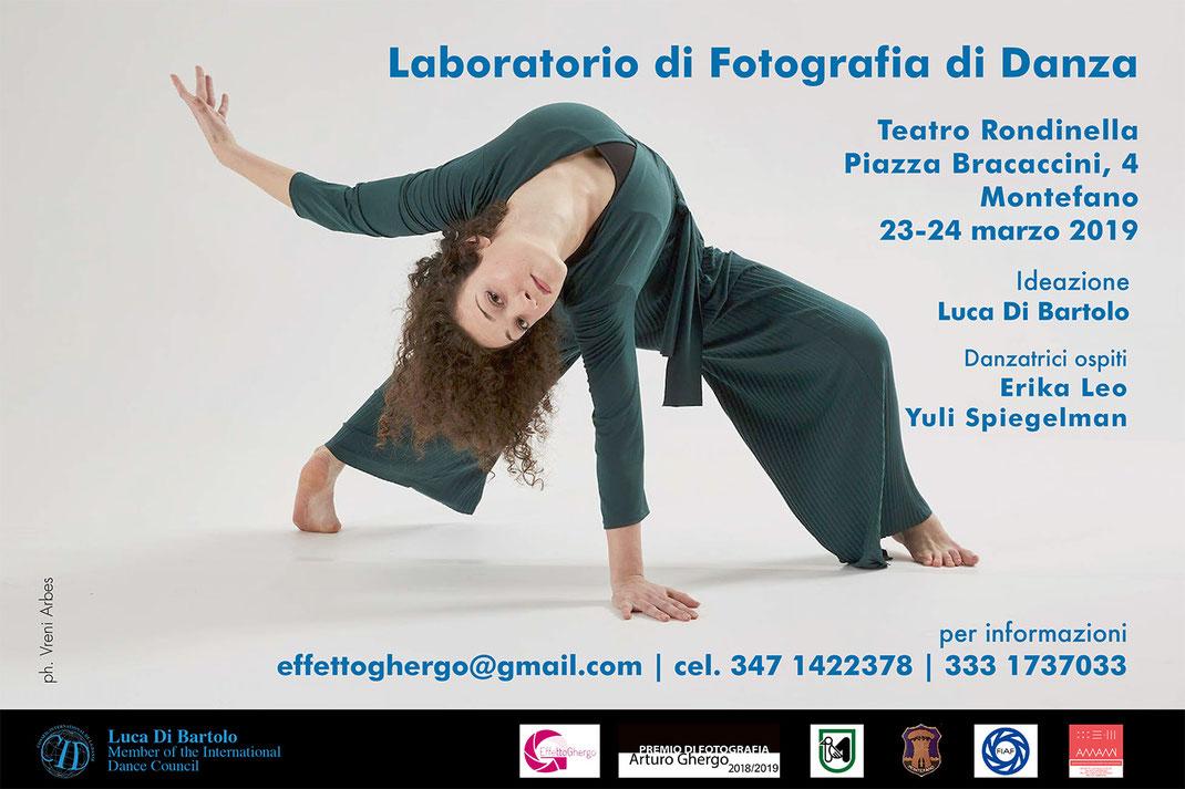 workshop di fotografia di danza Erika Leo