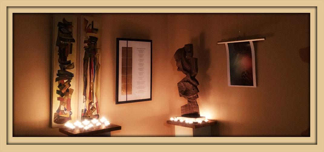 """Bilder zur Ausstellung """"In einem anderen Licht"""" in der Galerie Frutti dell'Arte. Kunst in Aachen bei Ausstellungen in Aachen in der Viktoriastrasse 24"""