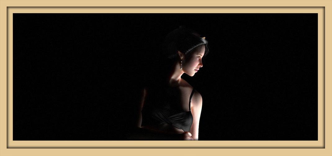 Bildnis Artemisia dell'Arte während der Ausstellung Spektrum 2016 in der Aula Carolina anlässlich der Aachener Kunstroute 2016.