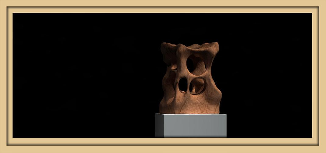 Digitale Skulpturen in der Galerie Frutti dell'Arte auf der Aachener Kunstroute 2016