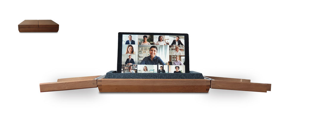 Dieses Bild zeigt ein Videokonferenzsystem mit dem Namen Conbox