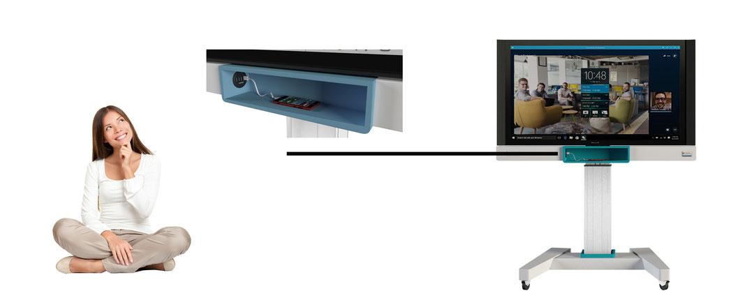 integrierte Ladestation in Rollwagen