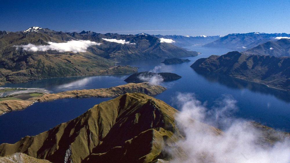 Wanaka Blick vom Gipfel Mount Roy Neuseeland