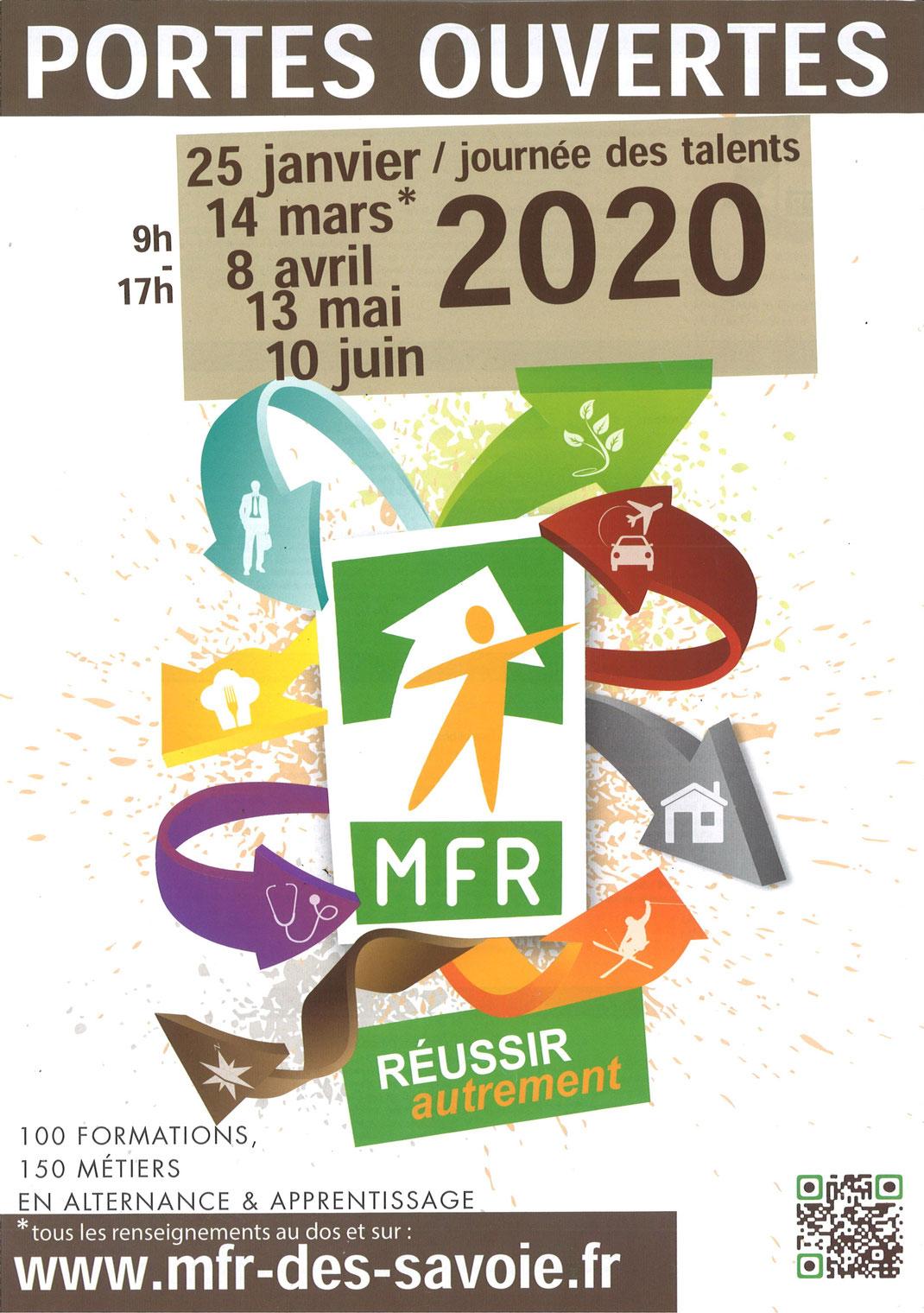 MFR - CAP | BEP | BEPa | BP | BAC PROFESSIONNEL | BTS  Portes ouvertes: Samedi 14 Mars 2020 09:00-17:00  MFR - 25, route de Metz - 74960 Meythet  04 50 22 70 60 | https://www.mfr-des-savoie.fr/index.php