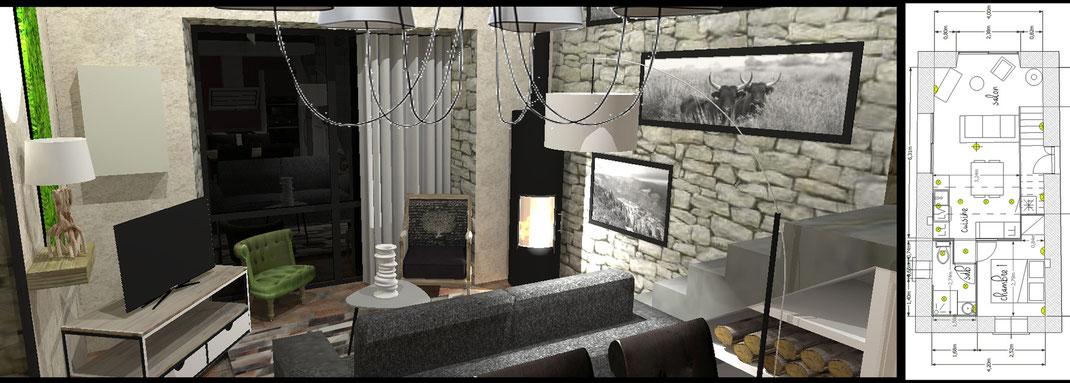 agencement intérieur aménagement décoration intérieur décoratrice Aurélie Pongi décorateur alès nîmes saint ambroix uzès gard décoratrice agencement intérieur
