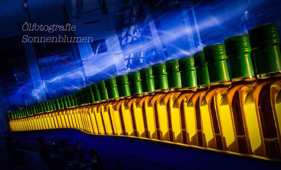 """Industriefotografie, Ölfotografie  inspiriert von Vincent van Gogh """"Sonnenblumen"""""""