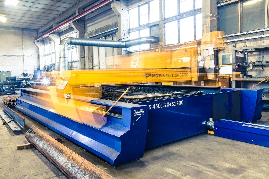 CNC-Plasmaschneidanlage von Microstep Europa MG Reihe plasma schneiden brennen brennschneiden Brennteile Lohnfertigung Fertigung Lohnzuschnitt