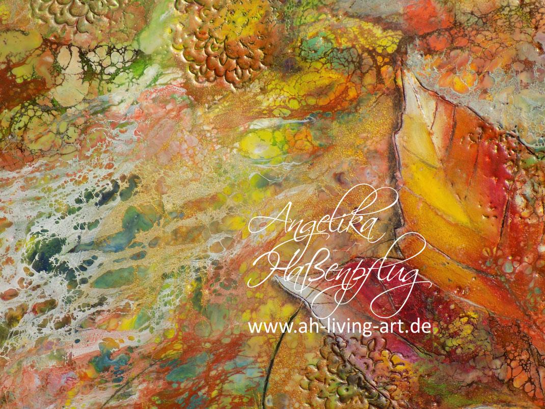 Angelika Haßenpflug, WAchsmalerei, enkaustik, encaustic, bienenwachs, abstrakt, painting, living art, künstlerin, auftragsarbeit, bilder, malen,