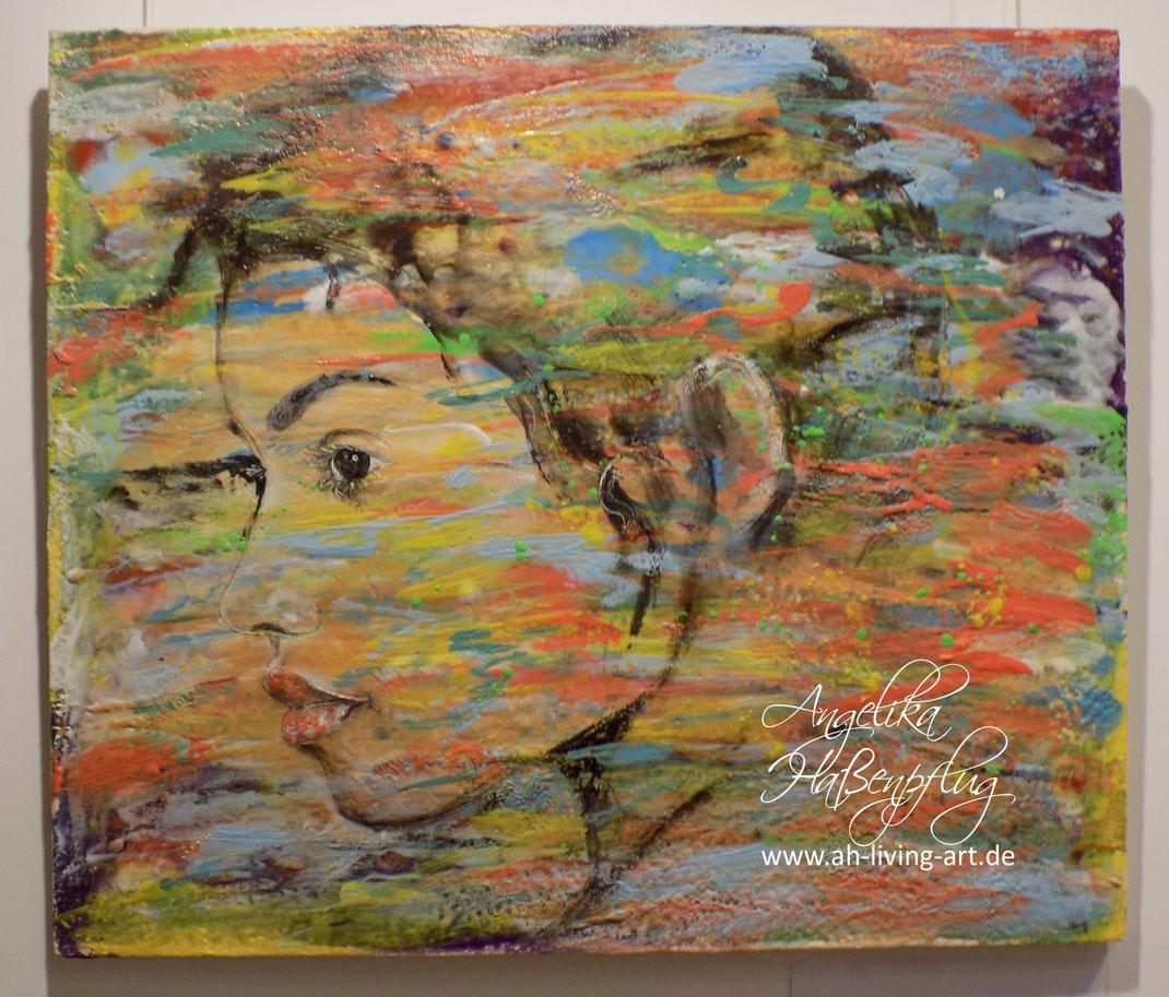 Portrait, Porträt Foto schwarze Frau,, Acryl, moderne kunst, angelika haßenpflug, living art.
