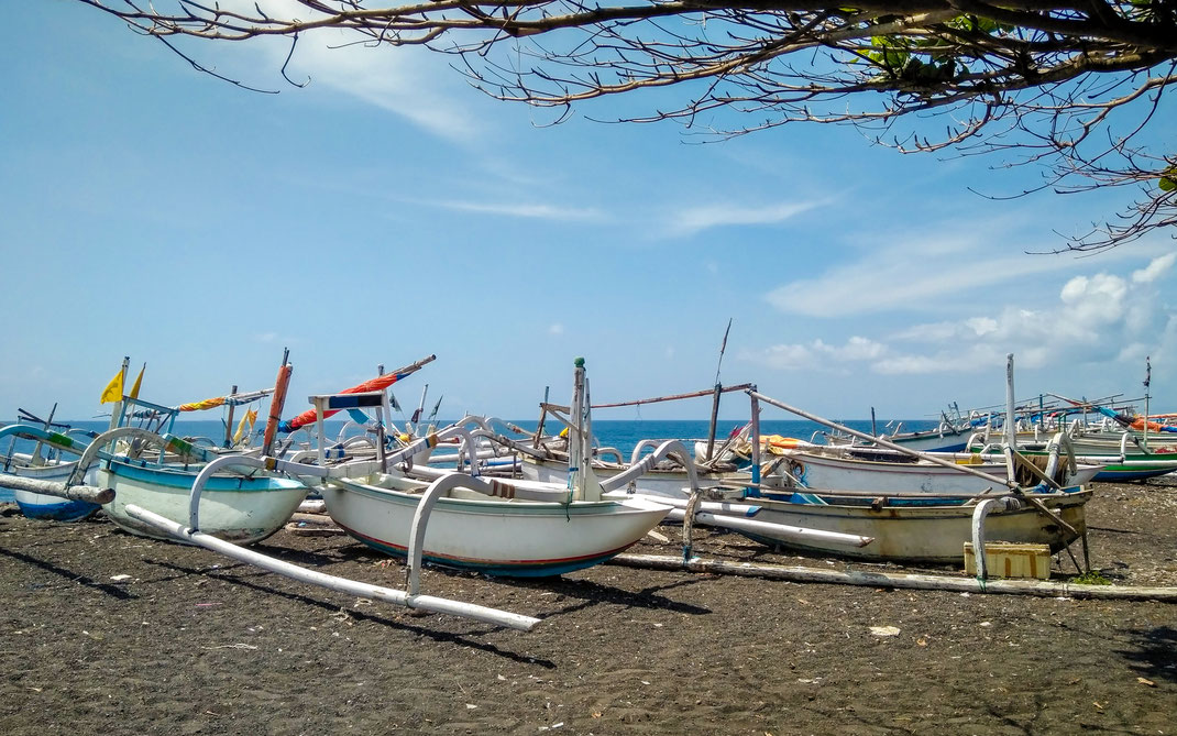 Jukung - Traditionelle Fischerboote
