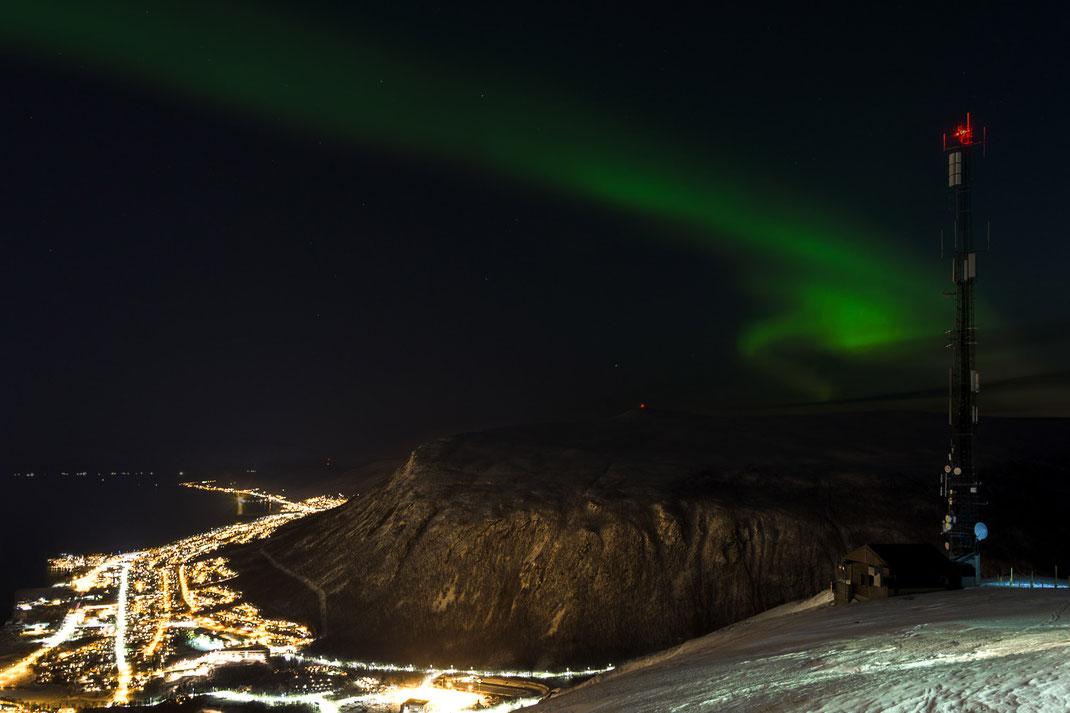 Nordlichter über Tromsø