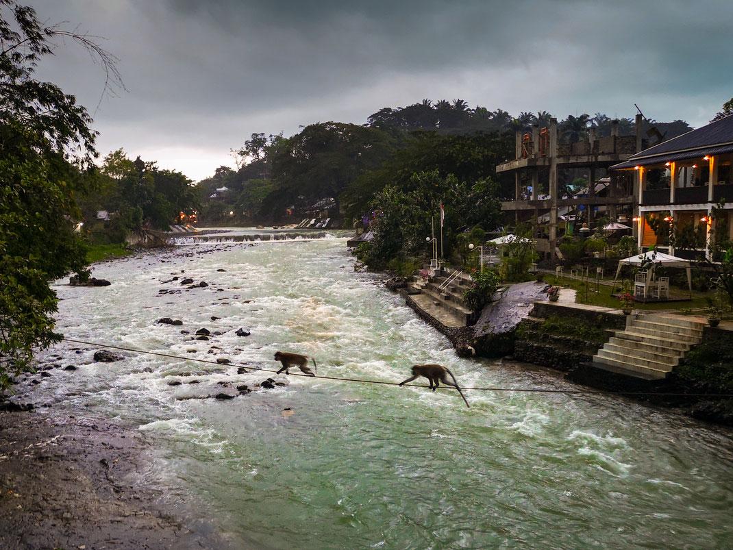 Beginn der Regen-Saison: Bahorok Fluss in Bukit Lawang