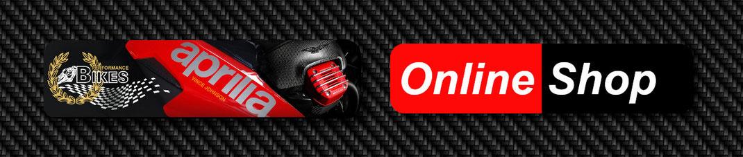 Online Shop von Performance Bikes für Zubehör, Bekleidung und Helme der Marken Aprilia, Moto Guzzi, Vespa, Piaggio