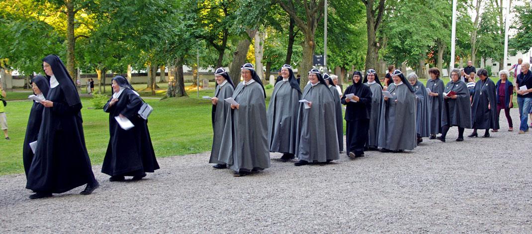 Prozession beim jährlichen Birgittafest.