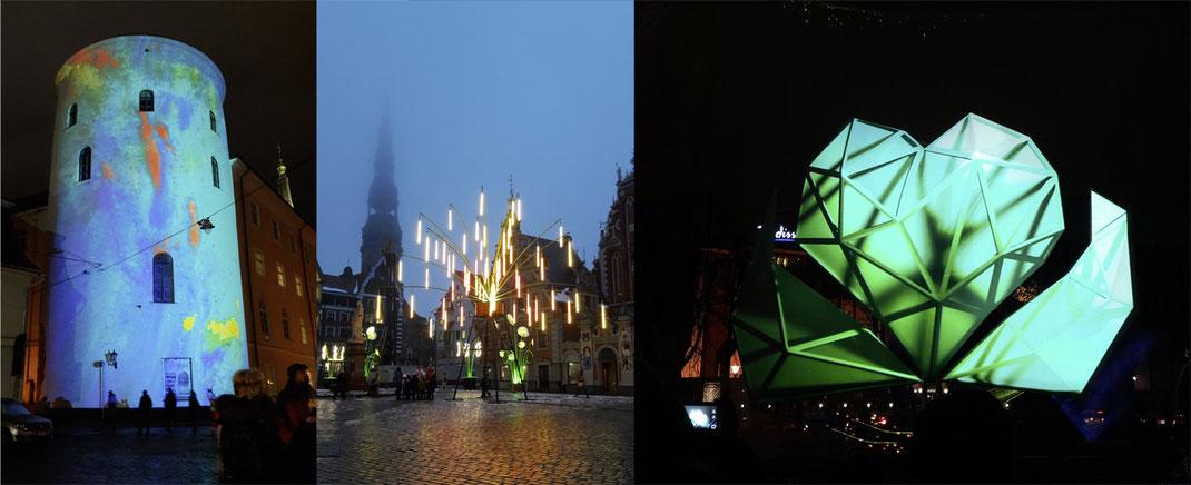 Lichtinstallationen des Staro Riga