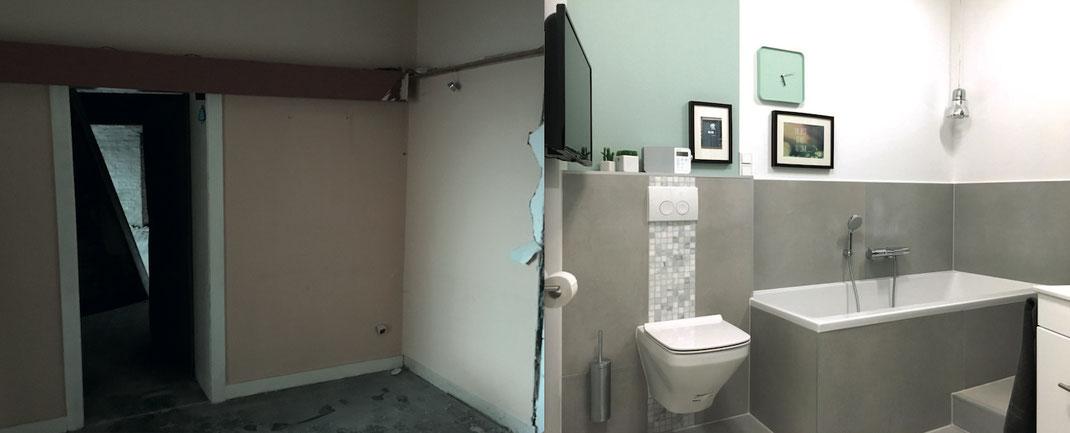 Farbe-Vorhernachher-Material-Design-Einrichtung-Badezimmer-Raumausstattung-Farbdesign-Innenarchitektur