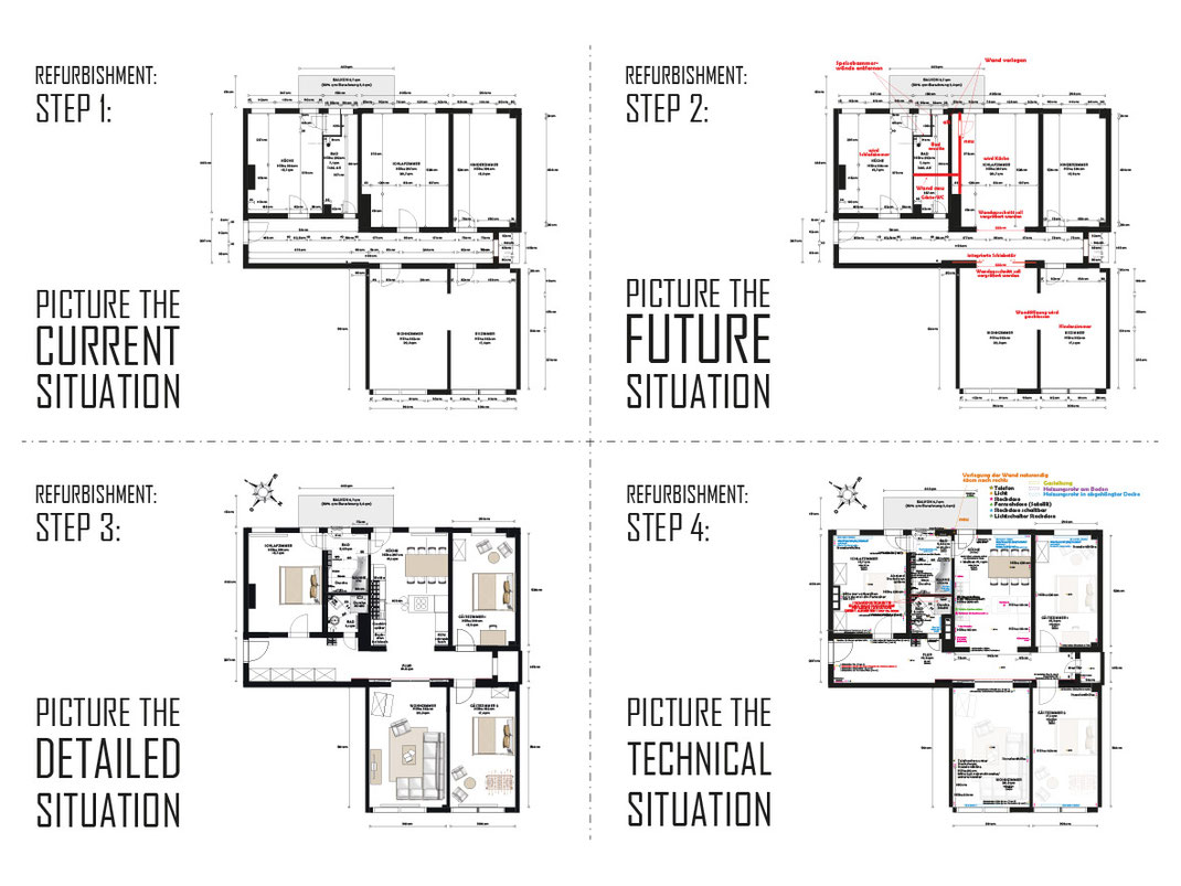 Hotel-Arztpraxis-kreativ-Arbeitsräume-Altbausanierung-Shopdesigner-Kernsanierung-Grundriss