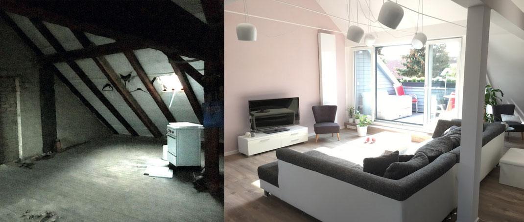 Farbe-Form-Material-Wohnzimmer-Dachausbau-Einrichtung_Raumausstattung-Innenarchitektin-Innenarchitektur