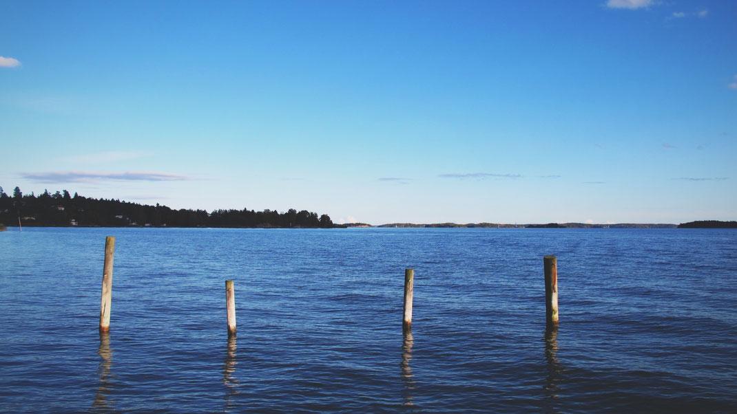 suède plage bleu archipel sable