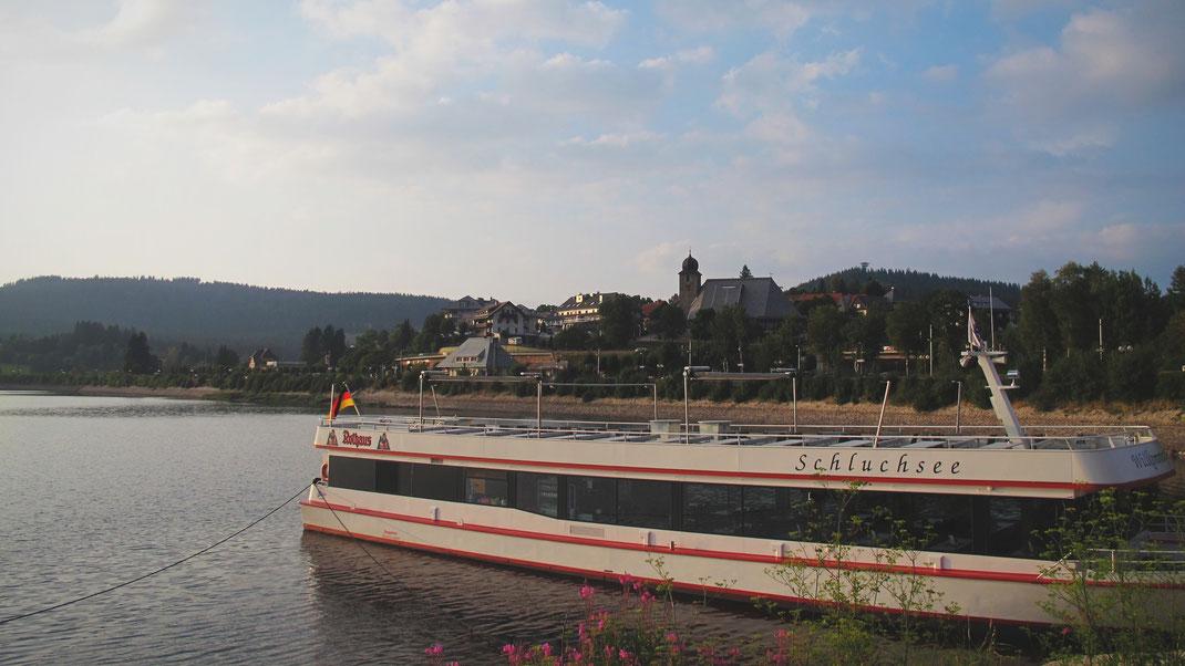 allemagne bateau lac scluchsee lac forêt