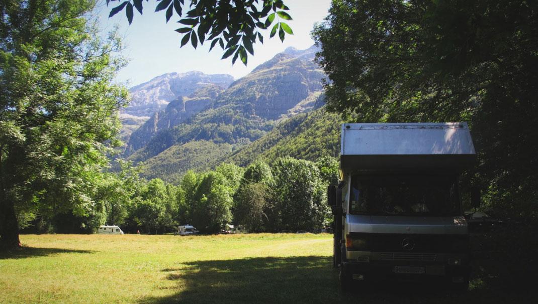 bigousteppes espagne pineta camion mercedes montagne