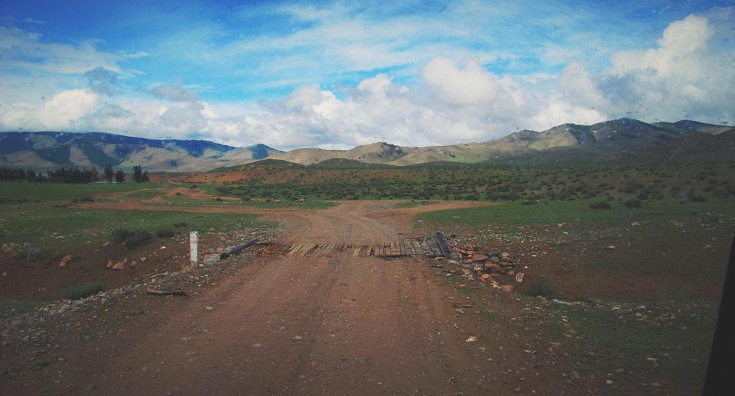 BIGOUSTEPPES MONGOLIE ROUTE PONT STEPPES