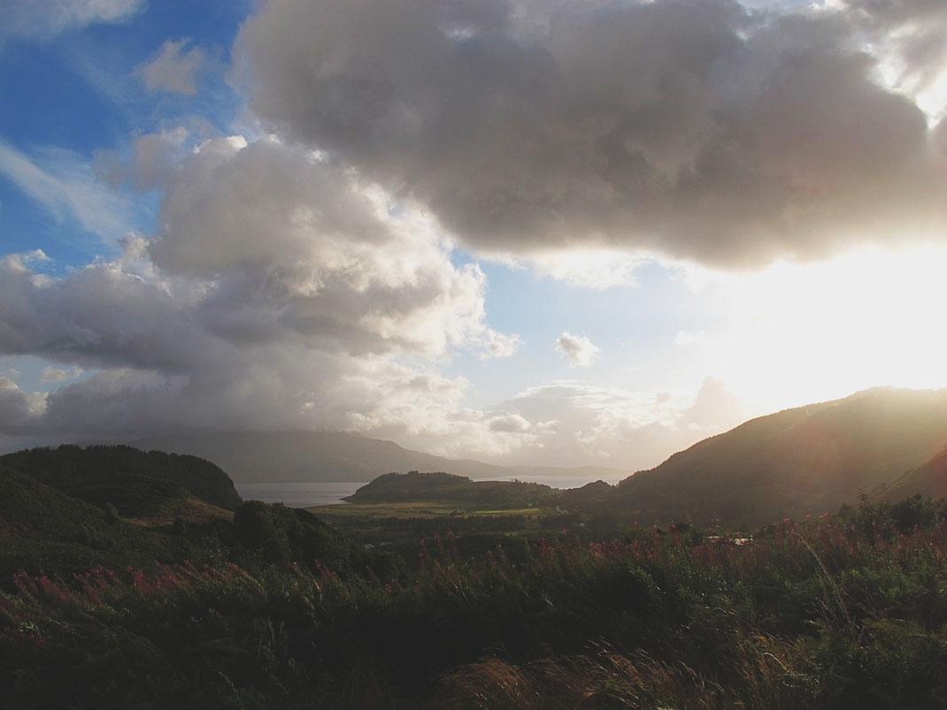 bigousteppes écosse camion mercedes highlands ciel nuage