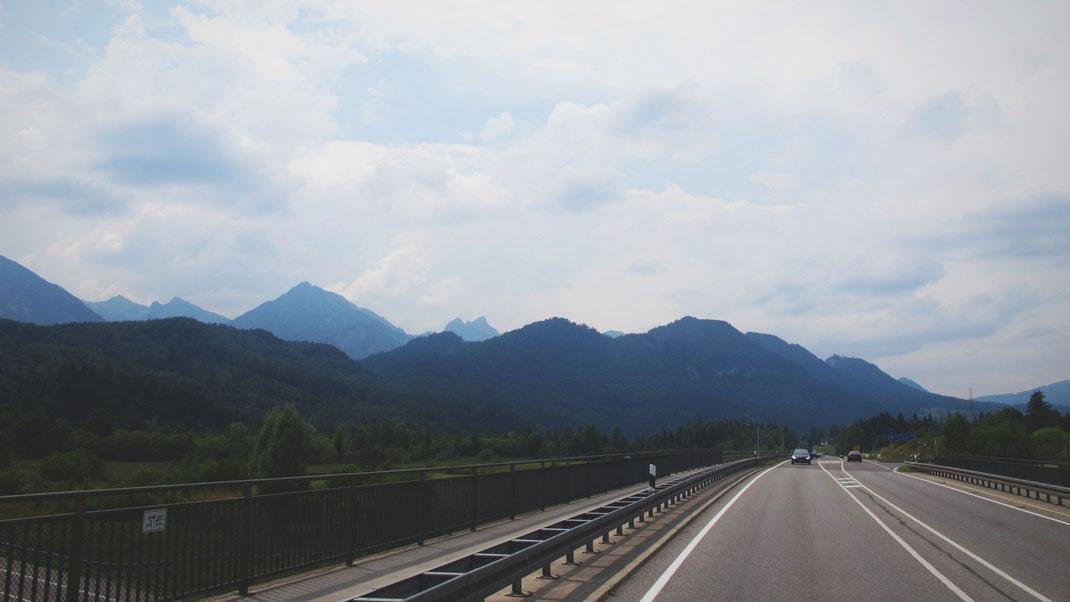 bigousteppes allemagne route bavière montagne camion