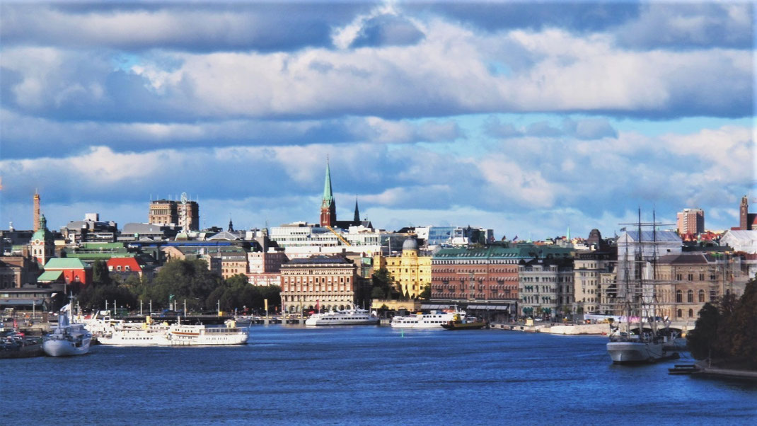 stockholm suède bigousteppes mer immeubles vue capitale ville