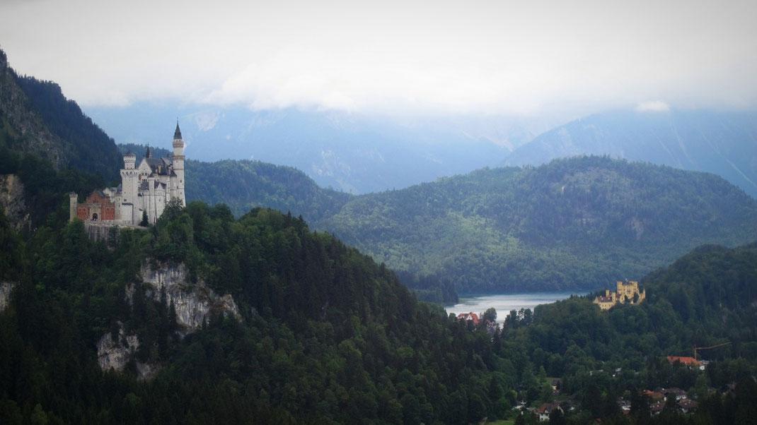 châteaux bavière tégelberg montagne téléphérique vue forêt lac alpsee