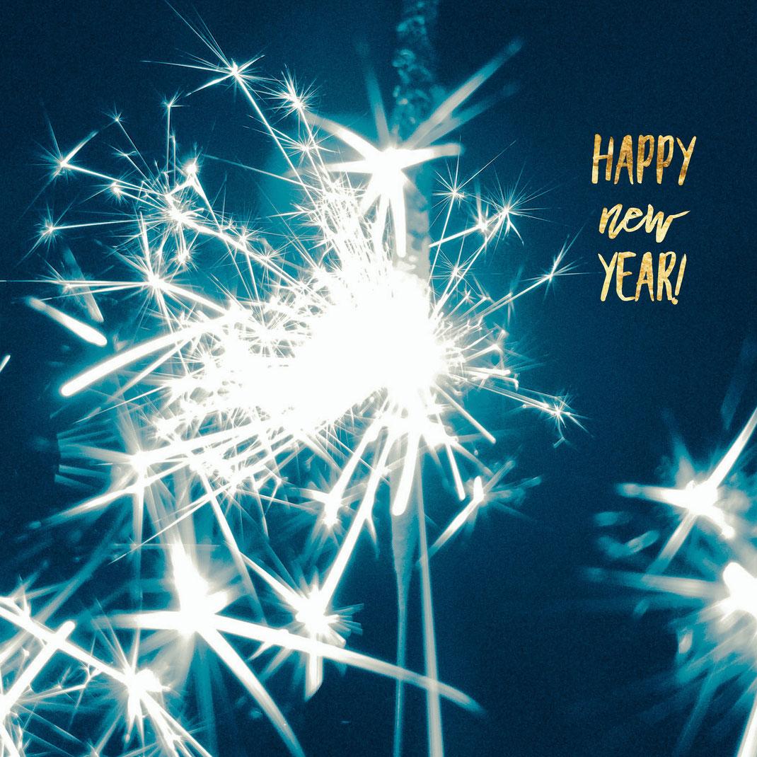 Frohes neues Jahr, Neujahr, Neujahrsgrüße, Feuerwerk, happy new year, NYE, 2019, Silvester, Wunderkerzen, sparklers, festive, new year, new year's day, art, new beginning