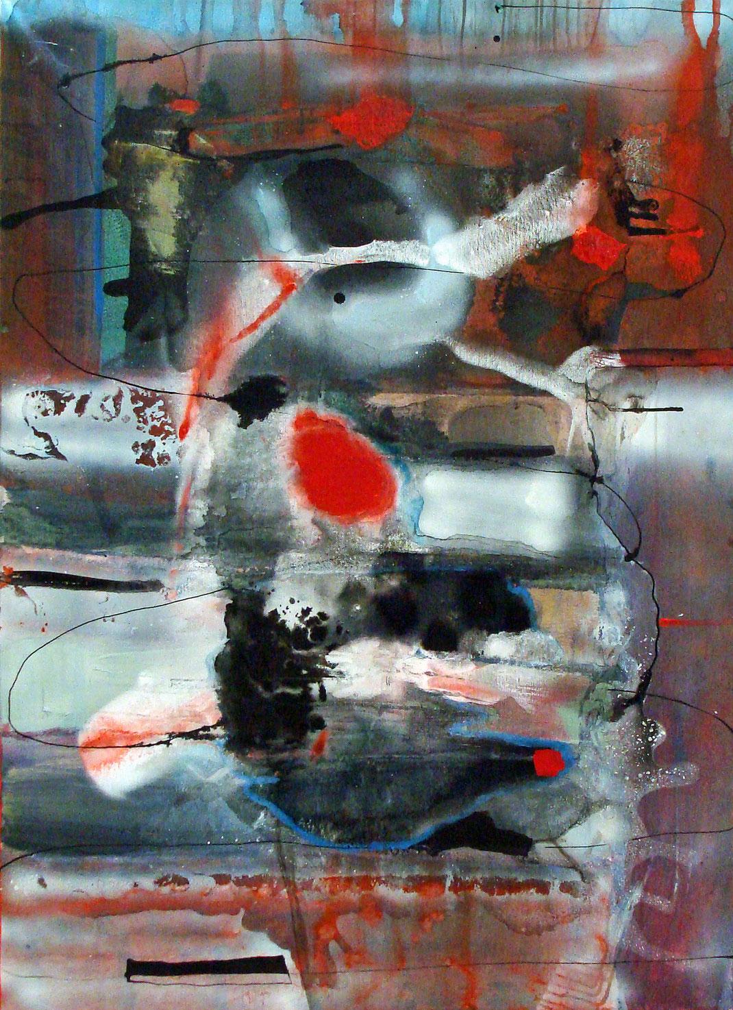 abstrakt, Malerei, Zeichentusche, Kunstwerk, gegenstandslos, rot, grau, schwarz, Kunstsammlung, Kunstsammler, Kunst, Bildverkauf, zeitgenössisch, Hamburg, Künstlerin, Bildwelt