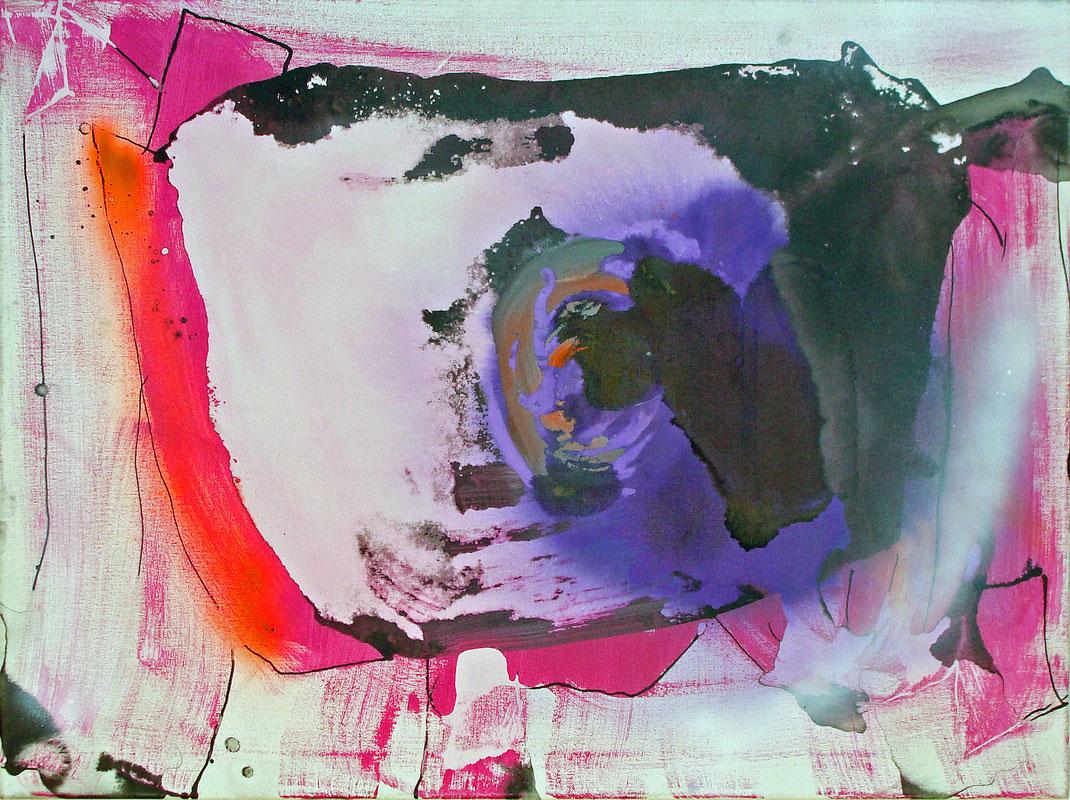 Kaninchenloch, Alice im Wunderland, abstrakt, Zeichentusche, zeitgenössisch, Malerei, Künstlerin, Hamburg, Kunstsammler, Kunstsammlung, Acryl, Lack, pink, lila, orange, lebendig, dynamisch, weiss, Bildverkauf, Leinwand