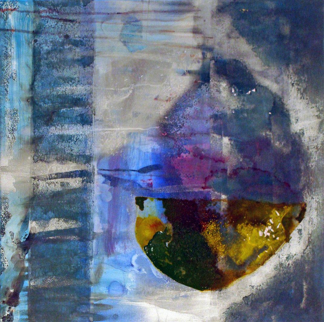 silber, blau, lila, grün, abstrakt, gegenstandslos, Malerei, Kunstsammlung, Kunstsammler, Bildverkauf, Galerie, Museum, Atelier, Künstlerin, Hamburg, kräftig, zeitgenössisch, elegant