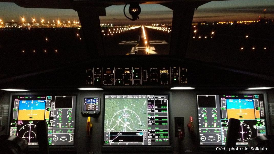Cockpit of a Dassault Falcon 2000EX