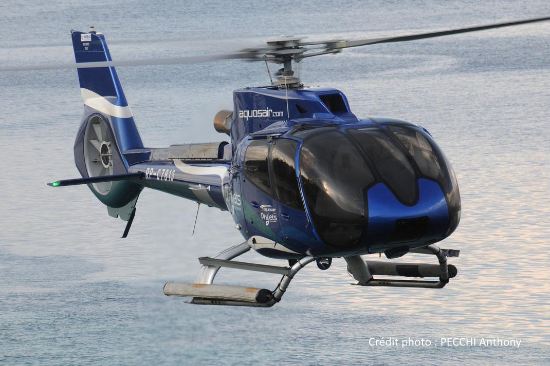 Hélicoptère Ecureuil H130 (anciennement Eurocopter EC130, mono-turbine)