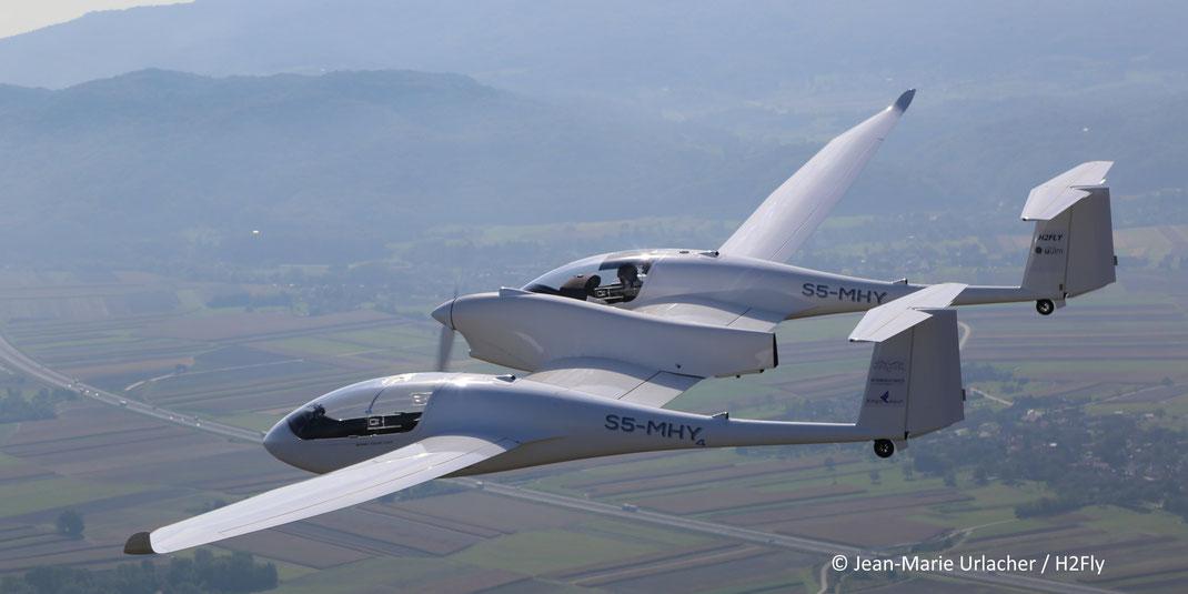 L'avion HY4 vole grâce à l'hydrogène.