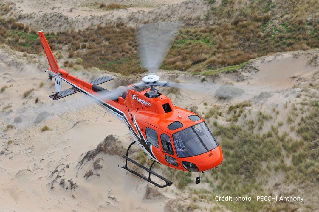 Hélicoptère Ecureuil H125 (anciennement Eurocopter AS350, mono-turbine)