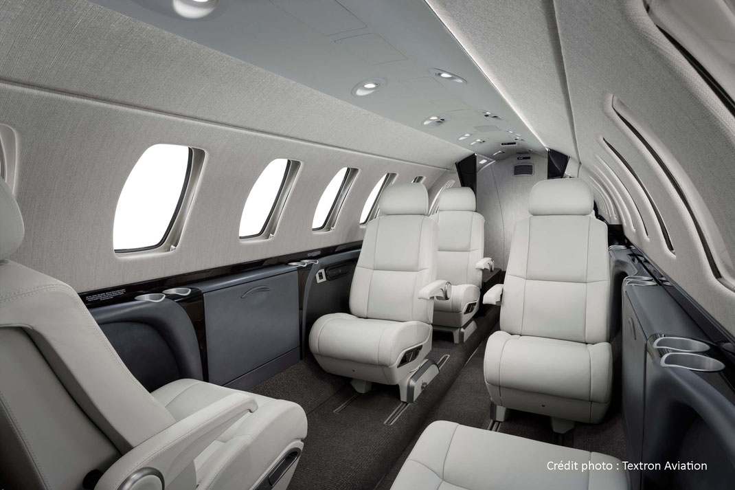 Cabine d'un Cessna Citation CJ3+