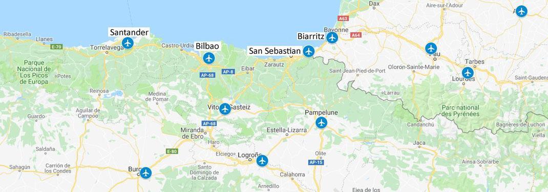Aéroports des Pays Basques français et espagnols
