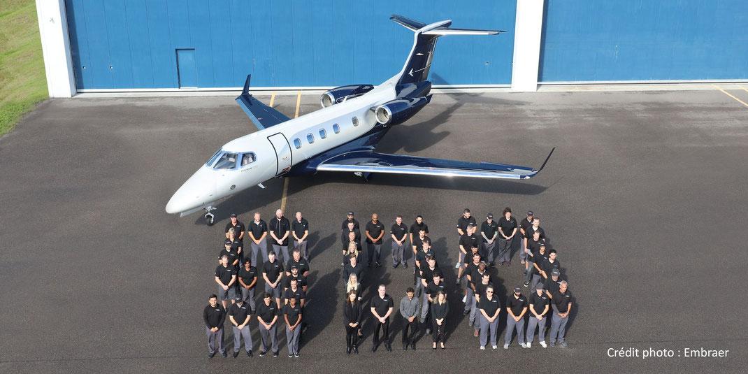Livraison du 500e jet privé Embraer Phenom 300