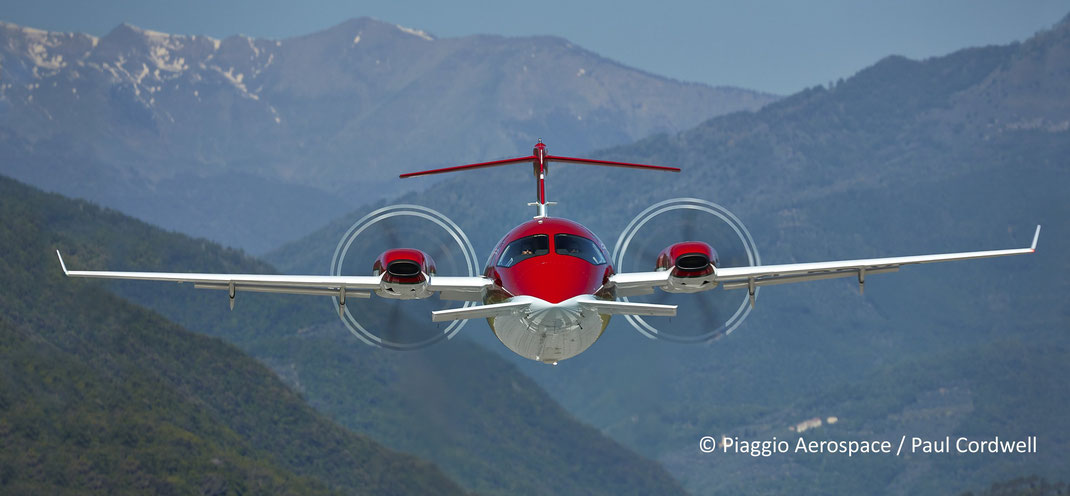 The Piaggio Avanti EVO, a champion of business aircraft charter