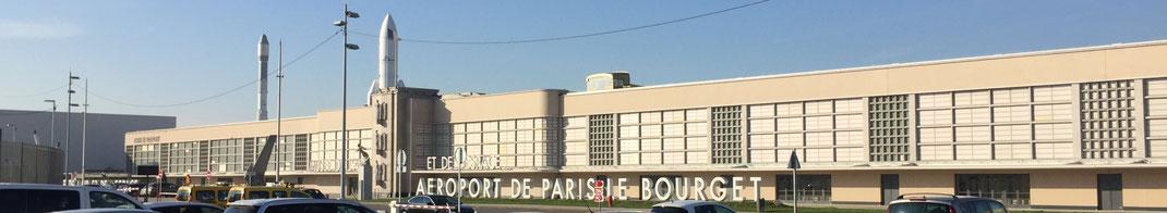 L'Aéroport de Paris Le Bourget vu du ciel.