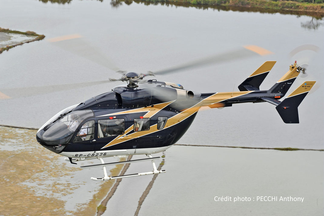 Hélicoptère Ecureuil EC145 (bi-turbines)