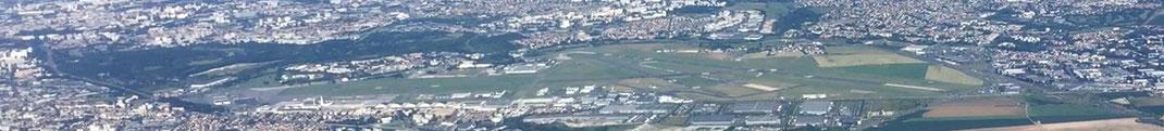 L'Aéroport du Bourget vu du ciel.