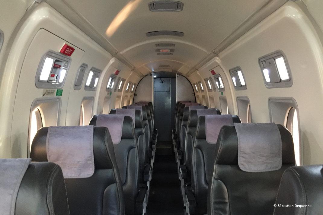 La cabine de 1m83 du Beech 1900D.